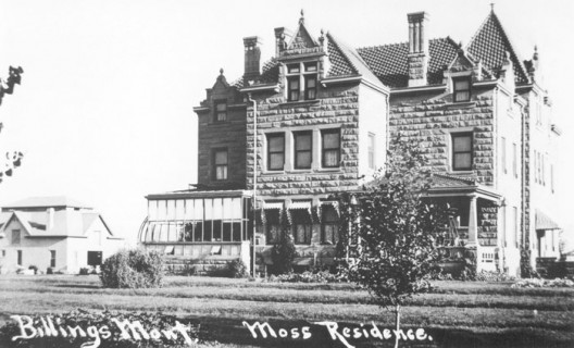Old photo of Moss Mansion